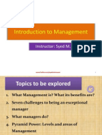 Introduction to Management-Week 1