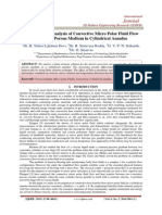 Finite Element Analysis of Convective Micro Polar Fluid Flow 