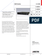 Sorensen DLM 3kW-4kW Datasheet