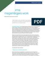 McKinsey - Why Pharma Megamergers Work