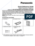KX DT333 343 346 Quick Reference Guide