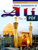 Selections From Judgement Of Hazrat Ali