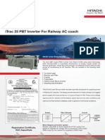 iTrac 25 PBT Inverter for Railway AC Coach Brochure
