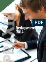 Verlagsverzeichnis 2014