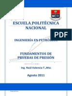 1. Fundamentos de pruebas de presión (Agosto 2011)