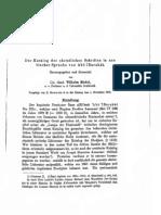 Riedel - 1902 - Der Katalog Der Christlichen S