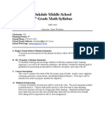 Oakdale Middle School 8th Grade Math Syllabus
