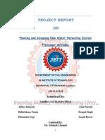 Planning & Designining Rain Water Harvesting Syst.