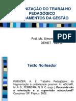 ORGANIZAÇÃO DO TRABALHO PEDAGÓGICO PDE