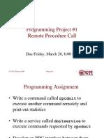 Project 1, Remote Procedure Call