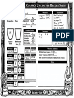 Warrior 1 - Dungeon Crawl Classics Character Sheet