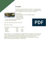 Pasta Prosciutto Funghi e Piselli
