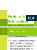 Naturalism in Education Report