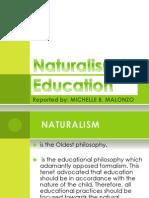 Naturalism in Education Report