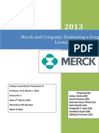 merck drug licensing decision tree analysis Of the drug as well as gather information on what it would take financially in order to market and produce this drug using decision tree analysis inc should use this opportunity to license case study - merck & comake sure you label graphs & tables, abstract should be.