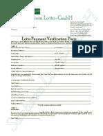 Lotto Payment Verification Form
