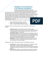 SAP System Validation and Compliance Methodologies for Pharma Companies