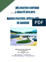 Plan Damelioration Continu de La Qualite Mas 2011 2015