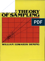 Some Theory of Sampling Escrito Por William Edwards Deming