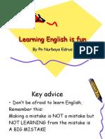 Learning English is fun nue