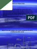 Rate of Reactionradiah