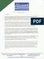 Freeman Delegate Letter