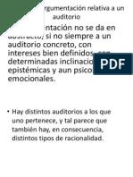 La idea de argumentación relativa a un auditorio