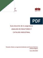 Ctalisis y Reactores Guia Docente