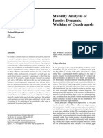 Stability Analysis of Passive Dynamic Walking of Quadrupeds