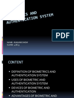 Biometrics and Authentication System