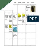Timetable Planned for Os November