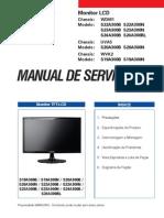 9619 Samsung S22A300B-N S23SA300B-N S24A300B-BL Chassis WDM1 Monitor LED Manual de Servicio