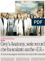 Grey's Anatomy, serie record che ha scalzato anche E.R.