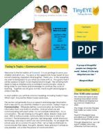Connect-TinyEYE's School District Newsletter Volume 1