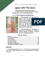 ChandrashekBharati Dialogues With the Guru RK Iyer
