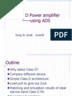 class d amplifier using ADS