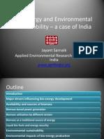Bio-Energy and Environmental Sustainability AERF India BW Delegation