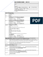 program of study and course guide 2013-14
