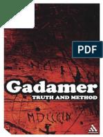 Gadamer, Truth and Method