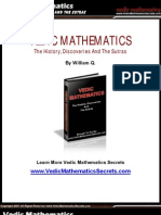 Super Fast Mental Math - Vedic Math History