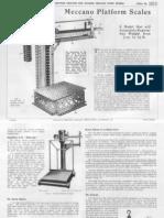 Meccano - SuperModels No 7 - Platform Scales (1934)