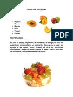 Ensalada de Frutas - 22.03