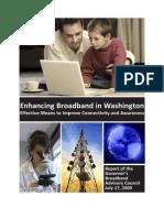 Enhancing Broadband in Washington