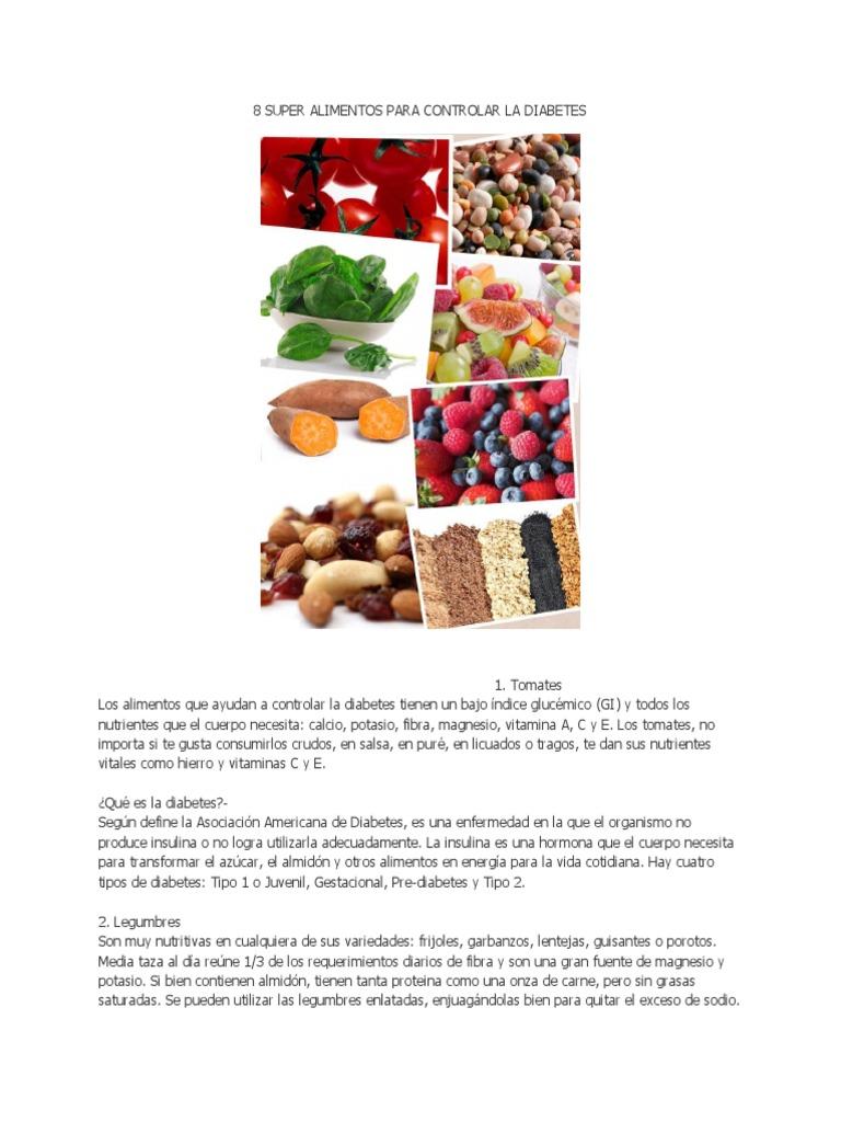 alimentos tipo fibra para la diabetes