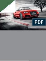 Audi RS 5 Cabriolet Catalogue (UK)