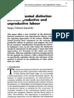 Sergio Camara Izquierdo - A Value-Oriented Distinction Between Productive and Unproductive Labour