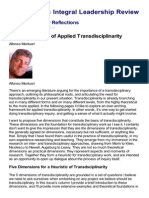 Five Dimensions of Applied Transdisciplinarity