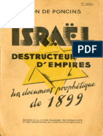 De Poncins Leon - Israel Destructeur d Empire Un Document Prophetique de 1899