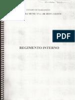 REGIMENTO INTERNO DA CÂMARA MUNICIPAL DE BOM JARDIM - MA