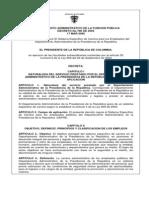 Decreto 780 17-03-2005 Sistema Especifico Dapre